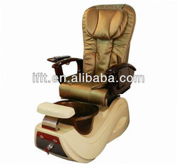 black acrylic washing salon relaxing chair massage and heating