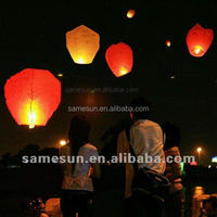 Multi-choice colors eco 100% biodegradable paper sky flying lanterns
