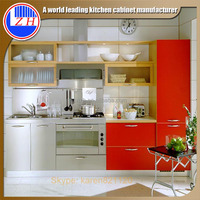 High gloss finish Indian mini modular kitchen designs for small kitchens