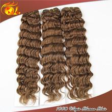 Natural bob Eurasian human hair extensions Chocolate Yaki Weave Human Hair