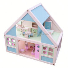 2015 Hot toys wooden house with furniture