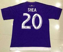 La ciudad de orlando #20 shea tailandia mejor calidad de color púrpura de camisetas de fútbol