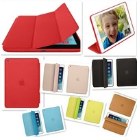 Super Slim Cover For iPad air Case Original Ultra Flip Leather Stand Cases
