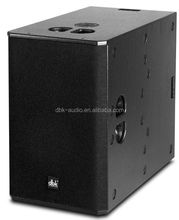 Dual 15 inch professional sound system neodymium subwoofer speaker with compact design SUB-215