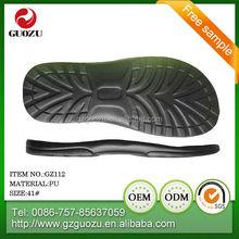 good flexibility PU sole for men sport sandal and slipper