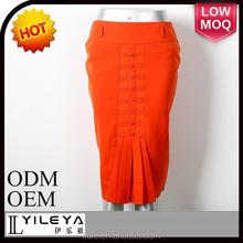 orange ladies formal fancy skirt top designs and blouse