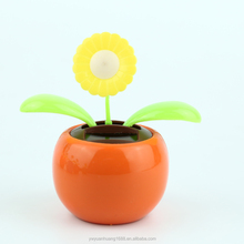 solar apple flip flap dancing flower daisy solar powered swing flip flap dancing flowers, car decorative gift sun doll factory