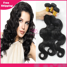 Natural looking cheap grace brazlian virgin body wave hair