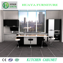 Competitive Price High Glossy Black and Grey Laquer Kitchen Cabinet