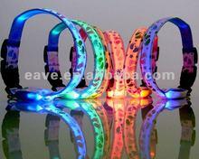LED Nylon Pet Dog Collar Night Safety LED Light-up Flashing Glow in the Dark LED050