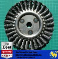 200mm Carbon Steel Twist Knot Wire Round Brush