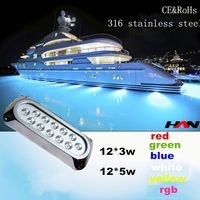 60W 316 Stainless steel surface mount waterproof led light for swimming pool