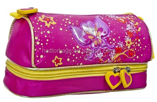 Mode sac de crayon / papillon couleur de motif étui à crayons pour les filles