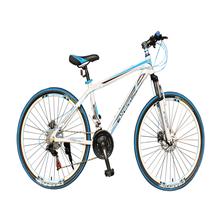 Blue White 27 Speed MTB Steel Bike Colorful Tire Mountain Bike