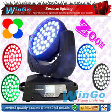 WG-G1020 high brightness LED zoom + wash + beam moving head light 36*15W RGBAW