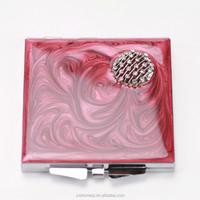 three way mirror for eye makeup supplier hand folding compact mirror HQCM290494