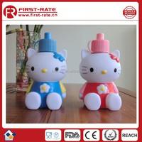 cartoon children hello kitty cat vacuum bottle