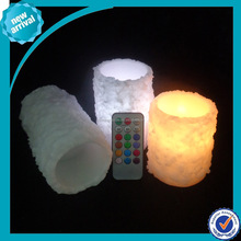 Battery operated firless led Energy saving rechargeable candle light remote control