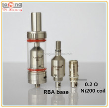 2015 new rebuildable atomizer yiloong anytank with 0.2 temp sensing atlantis coil like arctic sub ohm tank