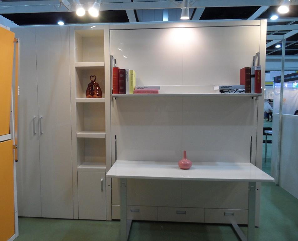 Moderne chambre space saving meubles mur lit avec bureau for Meuble bureau lit