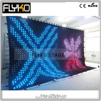 6m long 4m high 10mm pixel pitch led video curtain