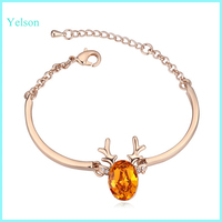 2015 Latest fashion gold bangle Making new gold bracelet models with austrian crystal for ladies
