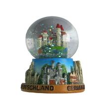 Germany city figurine 3D polyresin water globe