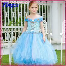 2015 Best selling high quality fashion fancy girl cinderella chiffon princess prom dress TR-C06