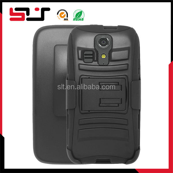 Mobile phone cover with holster and kickstand for kyocera vibe c6725 case