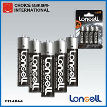 LONCELL Brand hot selling aaa lr03 1.5v am4 alkaline battery with low price