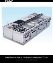 BOKAI gas cooking range,commercial range,4 burner gas range with oven