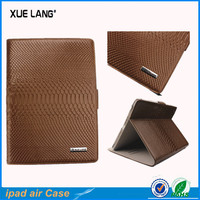 Snake pattern Real leather cases for ipad air