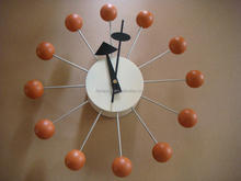 modern wall clock walnut Ball Clcok dining room wall clock