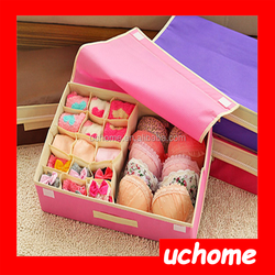 UCHOME Fashion Colourful Underwear Storage Boxes Wholesale Underpant & Socks Organizer Box With Handle