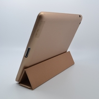 PU leather+silicone leather case for ipad2/3/4