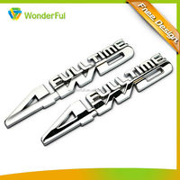Best Selling Car Accessories Chrome 4WD Badge Quality Plated Technics Auto Decorative Custom Metal Car Emblem