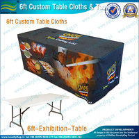 6ft Custom printed high bar cocktail table cloth for wedding(NF18F05018)