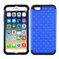 Hybrid TPU + PC Bling Sparkle Diamond Jewel Case Phone Back Cover Skin for iPhone 6 6 Plus