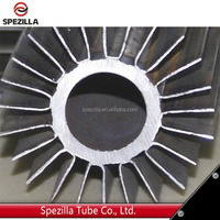 Extruded copper aluminum&stainless steel fin tube, copper welded aluminum fin tubing