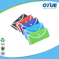Foldable recyclable customized reusable shopping bags