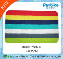 Printed PVC pet mat mix color pet dog and cat feeding mat
