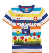 2015 hot fashion short sleeve Summer cotton appliqued with cartoon
