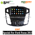 táctil capacitiva pantalla coche dvd para ford focus 2013 con 3g wifi radio rds navegación pipv- cdc corteza a9 doble núcleo 1g