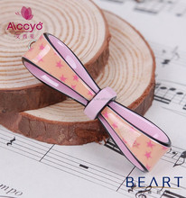 Hot sales fashion bow slides baby hair accessories