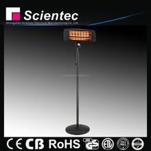 Scientec Popular Black Stand Quartz Heating ELectric Heater Manufacture