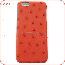 Luxury quality real ostrich leather case for iPhone 6