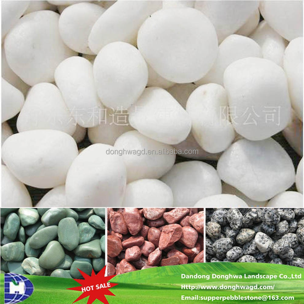 Cobblestones White Tumbled Stones Wholesale Garden