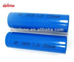 li-ion battery 3.2v 1500mah high drain rechargeable lifepo4 battery