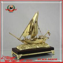 High-end delicate boat model Arab merchant boat trophy