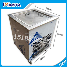 SUS304 Stainless powerful fried ice cream machine 60cm big pan square fry ice machine deep freeze